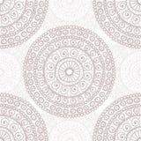 Hand drawn mandala seamless pattern in pastel tones Royalty Free Stock Photography