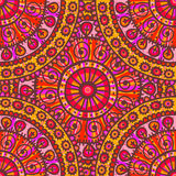 Hand drawn mandala seamless pattern in pink tones Stock Photography