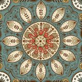 Hand drawn mandala seamless pattern Royalty Free Stock Images
