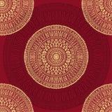 Hand drawn  mandalas seamless pattern Royalty Free Stock Image