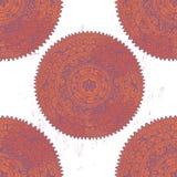 Hand drawn   mandalas  seamless pattern Royalty Free Stock Photo