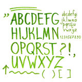 Hand drawn marker artistic font Stock Images