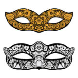 Hand drawn mask Royalty Free Stock Images