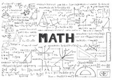 Hand drawn Math formulas for background. Hand drawn Math formulas  for background Stock Photo