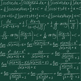 Hand drawn mathematical vector seamless background. Royalty Free Stock Photography