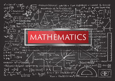 Hand drawn Mathematics Royalty Free Stock Photography