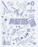 Hand drawn Mathematics set. Vector illustration of Hand drawn Mathematics set Stock Image