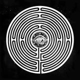 Hand drawn maze labyrinth with eye in it. Stock Photos