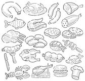 Hand drawn meat Royalty Free Stock Image