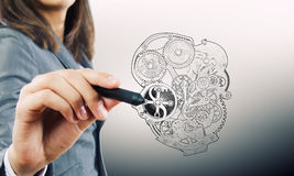 Hand drawn mechanical heart Stock Image