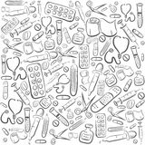 Hand Drawn Medical Background Royalty Free Stock Photo