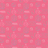 Hand drawn medical seamless pattern. Pharmacy vector background. Doodle medicine design. Stock Photos