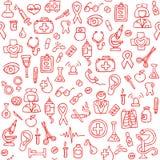 Hand drawn medical seamless pattern. Vector Illustration Stock Photo