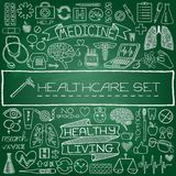 Hand drawn medical set of icons Royalty Free Stock Image