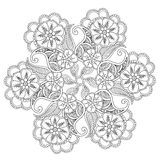Hand drawn Mendie Mandala. Stock Images