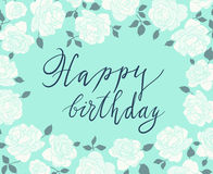 Hand drawn menthol greeting card design with white Stock Photography