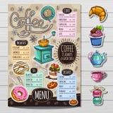 Hand drawn menu royalty free illustration