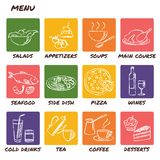 Hand drawn menu elements set Royalty Free Stock Photo