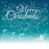 Hand Drawn Merry Christmas Decoration Of Stock Images