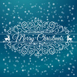 Hand Drawn Merry Christmas Decoration Of Stock Photography