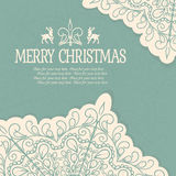 Hand Drawn Merry Christmas Decoration Of Royalty Free Stock Images