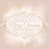 Hand Drawn Merry Christmas Decoration Of Stock Photo