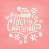 Hand Drawn Merry Christmas Decoration Of Stock Photos