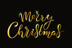 Hand drawn Merry Christmas typography lettering poster vector illustration