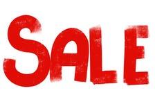 Huge handlettered text sale for shops vector illustration