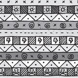 Hand drawn mexican seamless vector pattern Stock Images