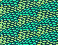 Hand drawn migration fish pattern. Cute hand drawn seamless pattern with fish migration Royalty Free Stock Photography