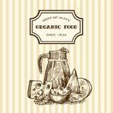 Hand drawn milk Stock Image