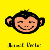 Hand drawn monkey , doodle vector illustration Stock Images
