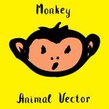 Hand drawn monkey , doodle vector illustration Stock Image