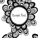 Hand drawn monochrome background. Royalty Free Stock Photography