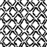 Hand drawn monochrome black and white seamless abstract pattern. Ink sketch texture and background. Hand drawn monochrome black and white seamless abstract stock illustration