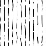 Hand drawn monochrome black and white seamless abstract pattern. Ink sketch texture and background. Royalty Free Stock Photography