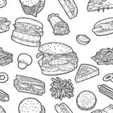Fast food background royalty free illustration
