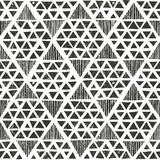 Hand drawn monochrome pattern. Primitive geometric Royalty Free Stock Images