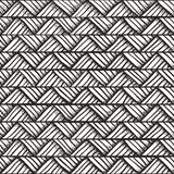 Hand drawn monochrome pattern. Royalty Free Stock Photos