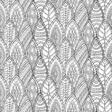 Hand drawn monochrome seamless vector abstract Royalty Free Stock Photo