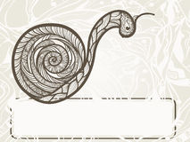 hand drawn monochrome snail Royalty Free Stock Photos