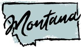 Free Hand Drawn Montana State Sketch Royalty Free Stock Image - 101495506