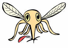 Hand drawn Mosquito Royalty Free Stock Images
