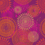Hand drawn  motley endless ethnic seamless pattern Stock Photos