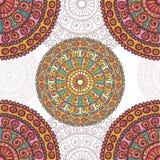 Hand drawn motley mandalas  seamless pattern Royalty Free Stock Images