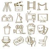 Hand drawn movie Stock Photo