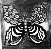 Hand drawn multicolored utterfly Royalty Free Stock Photo