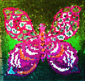 Hand drawn multicolored utterfly Royalty Free Stock Images