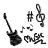 Hand drawn music doodles Royalty Free Stock Image